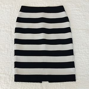 Express | Striped Bodycon Pencil Skirt